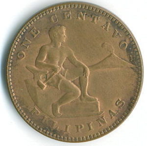 Philippines Coin 1937 One Centavo Obverse