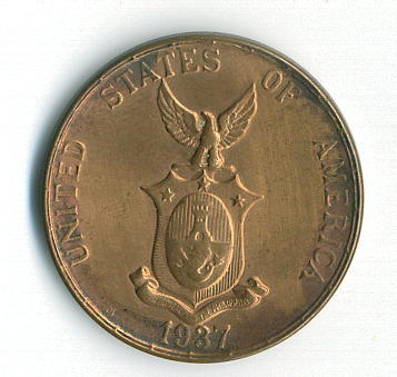Philippines Coin 1937 One Centavo Reverse