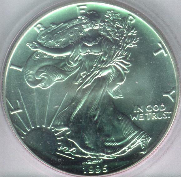 Bullion Silver Coin One Dollar Obverse