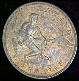 Philippines Coin 1905 Peso Reverse