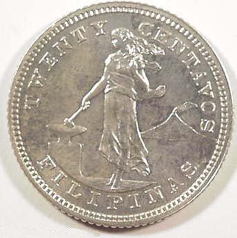 Philippines 20 Centavos 1903 Obverse