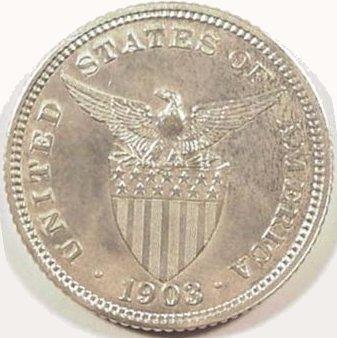 Philippines 20 Centavos 1903 Reverse