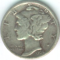 Grading Coins Very Fine Mercury Dime
