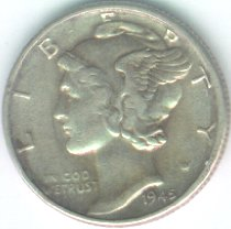Grading Coins Extra Fine Mercury Dime